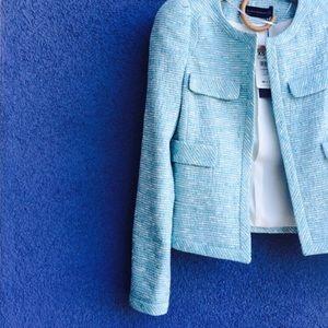 Zara brand new blue tweed blazer